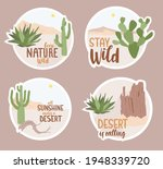 Set Of Stickers About Desert...