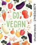 go vegan vertical poster... | Shutterstock .eps vector #1948363879