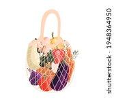 reusable shopping bag full of... | Shutterstock .eps vector #1948364950