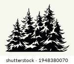 fir trees vintage template in... | Shutterstock .eps vector #1948380070