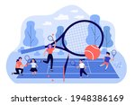 coaches and children playing at ... | Shutterstock .eps vector #1948386169