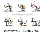 vector set of humor cartoon man ... | Shutterstock .eps vector #1948397563