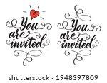 vector calligraphy hand drawn... | Shutterstock .eps vector #1948397809