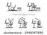 vector set of humor cartoon man ... | Shutterstock .eps vector #1948397890
