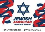 jewish american heritage month. ...   Shutterstock .eps vector #1948401433