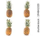 fresh ripe pineapples isolated... | Shutterstock . vector #194841320