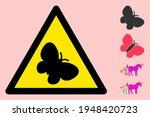 Vector Butterfly Flat Warning...