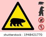 Vector Bear Flat Warning Sign....