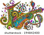 festival   a colorful journey  | Shutterstock .eps vector #194842400