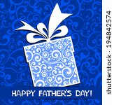 happy father's day card. vector ...   Shutterstock .eps vector #194842574