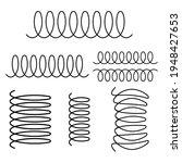 spiral spring vector logo icon... | Shutterstock .eps vector #1948427653