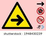 vector right arrow flat warning ... | Shutterstock .eps vector #1948430239