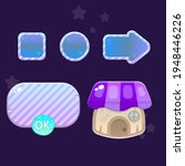 game ui set of cute icons and...