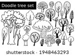 set of cartoon trees isolated... | Shutterstock .eps vector #1948463293