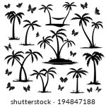 Vector Silhouettes Of Palm...