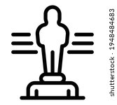Ranking Statuette Icon. Outline ...