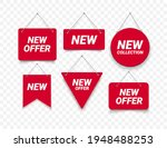 new offer labels. red sale... | Shutterstock .eps vector #1948488253