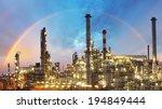 oil indutry refinery   factory... | Shutterstock . vector #194849444