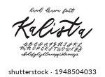 hand drawn font kalista.... | Shutterstock .eps vector #1948504033