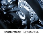 closeup car timing belt in... | Shutterstock . vector #194850416