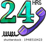 24 hours service icon in color... | Shutterstock .eps vector #1948510423