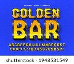 pixel vector alphabet design ... | Shutterstock .eps vector #1948531549