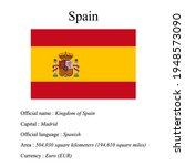 spain national flag  country's...   Shutterstock .eps vector #1948573090