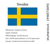 sweden national flag  country's ...   Shutterstock .eps vector #1948573093