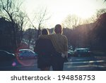 young modern stylish couple... | Shutterstock . vector #194858753