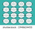 kitchen seasoning jar label... | Shutterstock .eps vector #1948624453