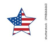 american flag design  star...   Shutterstock .eps vector #1948666663