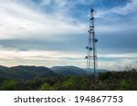 A Radio Communications Tower At ...