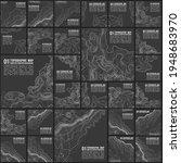 grey contours vector topography.... | Shutterstock .eps vector #1948683970