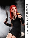 dangerous young girl  | Shutterstock . vector #194873354