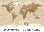 world map and poles   vintage... | Shutterstock .eps vector #1948748389