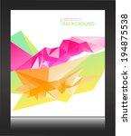 abstract vector background | Shutterstock .eps vector #194875538