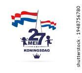 27 mei koningsdag.translation ... | Shutterstock .eps vector #1948756780