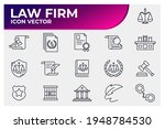 set of law and justice icon....   Shutterstock .eps vector #1948784530