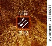 restaurant menu design   menu... | Shutterstock .eps vector #194880389