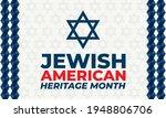 jewish american heritage month  ...   Shutterstock .eps vector #1948806706