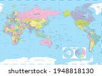 world map   pacific view   asia ... | Shutterstock .eps vector #1948818130