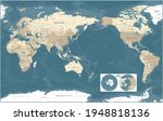 world map   pacific view   asia ... | Shutterstock .eps vector #1948818136