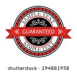 retro label or banner in red ... | Shutterstock .eps vector #194881958