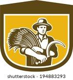 illustration of wheat farmer...   Shutterstock . vector #194883293