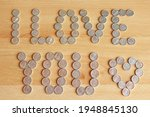 Inscription From Coins On A...