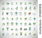 eco icons set   isolated on... | Shutterstock .eps vector #194885858