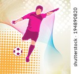 vector illustration of  soccer  ... | Shutterstock .eps vector #194890820