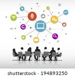 vector of business people... | Shutterstock .eps vector #194893250