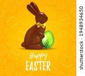 happy easter yellow background... | Shutterstock .eps vector #1948934650