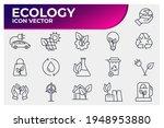set of ecology environmental... | Shutterstock .eps vector #1948953880